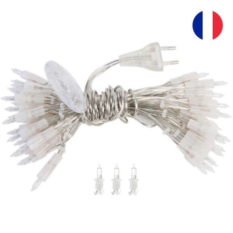 l'Original slinger met 20 lampjes transparant CE snoer - L'Original toebehoren - La Case de Cousin Paul