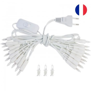 fancy light l'Original 20 light bulbs white cord CE - L'Original accessories - La Case de Cousin Paul
