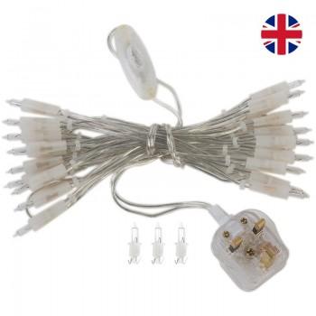 guirlande L'Original - 20 ampoules câble transparent UK - Accessoires L'Original - La Case de Cousin Paul