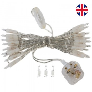 l'Original slinger met 20 lampjes transparant UK snoer - L'Original toebehoren - La Case de Cousin Paul