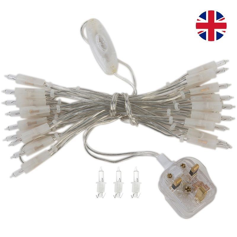 fancy light l'Original 20 light bulbs clear cord, UK - L'Original accessories - La Case de Cousin Paul