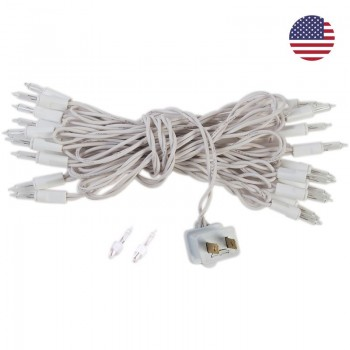 fancy light l'Original 20 light bulbs white cord, US - L'Original accessories - La Case de Cousin Paul
