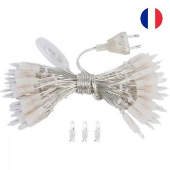 l'Original slinger met 35 lampjes transparant CE snoer - L'Original toebehoren - La Case de Cousin Paul