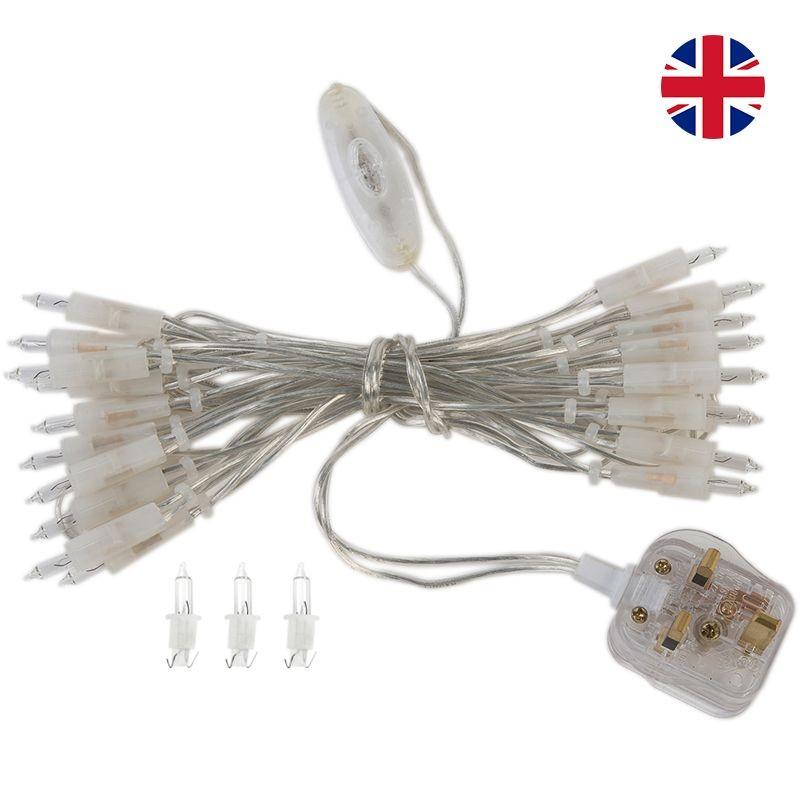 l'Original slinger met 35 lampjes, transparant UK snoer - L'Original toebehoren - La Case de Cousin Paul