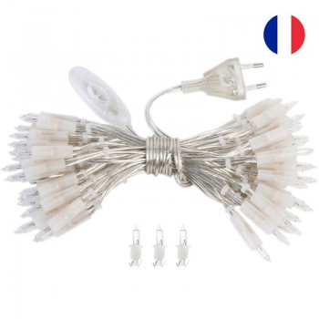 guirlande L'Original - 50 ampoules câble transparent CE - Accessoires L'Original - La Case de Cousin Paul