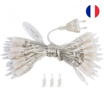 l'Original slinger met 50 lampjes, transparant CE snoer - L'Original toebehoren - La Case de Cousin Paul