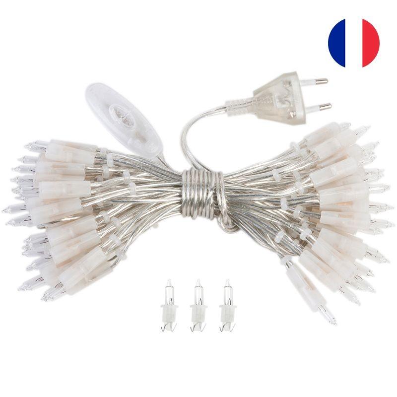 ghirlanda l'Original con 50 lampadine e cavo CE trasparente - Accessori L'Original - La Case de Cousin Paul