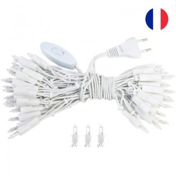 guirlande L'Original - 50 ampoules câble blanc CE - Accessoires L'Original - La Case de Cousin Paul