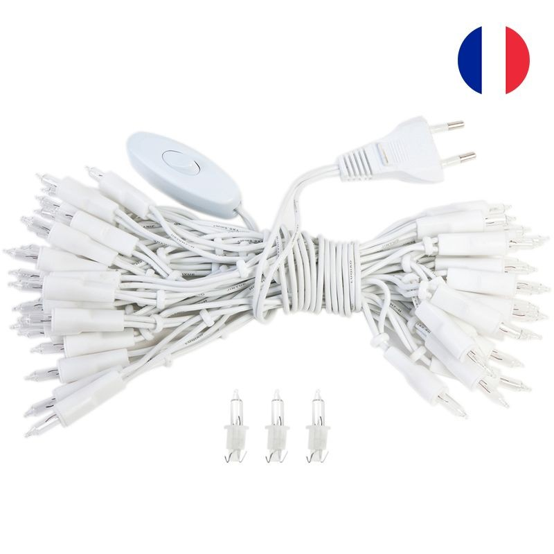 fancy light l'Original 50 light bulbs white cord CE - L'Original accessories - La Case de Cousin Paul