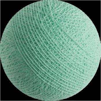 boule tissée pour guirlande Premium vert d'eau - Boules Tissées Premium - La Case de Cousin Paul