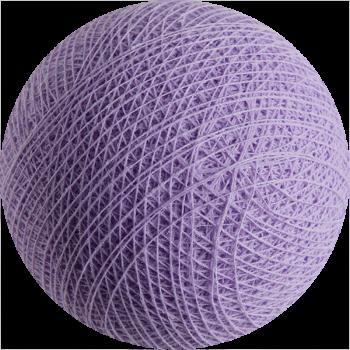 boule tissée pour guirlande Premium parme clair - Boules Tissées Premium - La Case de Cousin Paul