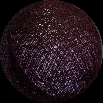 boule tissée pour guirlande Premium aubergine - Boules Tissées Premium - La Case de Cousin Paul