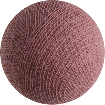 boule tissée pour guirlande Premium vieux rose - Boules Tissées Premium - La Case de Cousin Paul