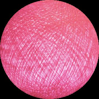 boule tissée pour guirlande Premium rose clair - Boules Tissées Premium - La Case de Cousin Paul