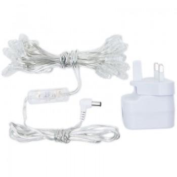 Guirlande Premium - 20 LED câble transparent UK - Accessoires Premium - La Case de Cousin Paul