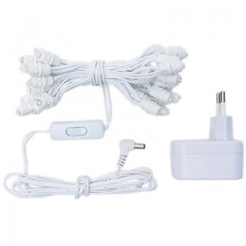 Premium slinger met 35 LED-lampjes, wit CE snoer - Premium toebehoren - La Case de Cousin Paul