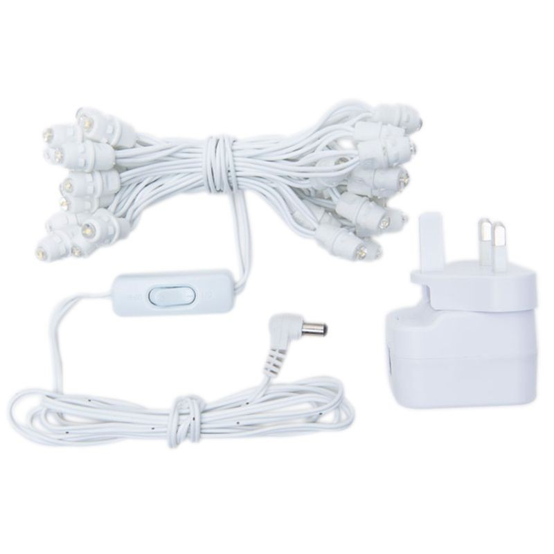 Premium slinger met 35 LED-lampjes, wit UK snoer - Premium toebehoren - La Case de Cousin Paul