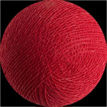 boule tissée pour guirlande lumineuse l'Original - rouge - Boules Tissées l'Original - La Case de Cousin Paul