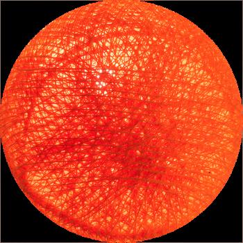 boule tissée pour guirlande lumineuse l'Original - orange flash - Boules Tissées l'Original - La Case de Cousin Paul