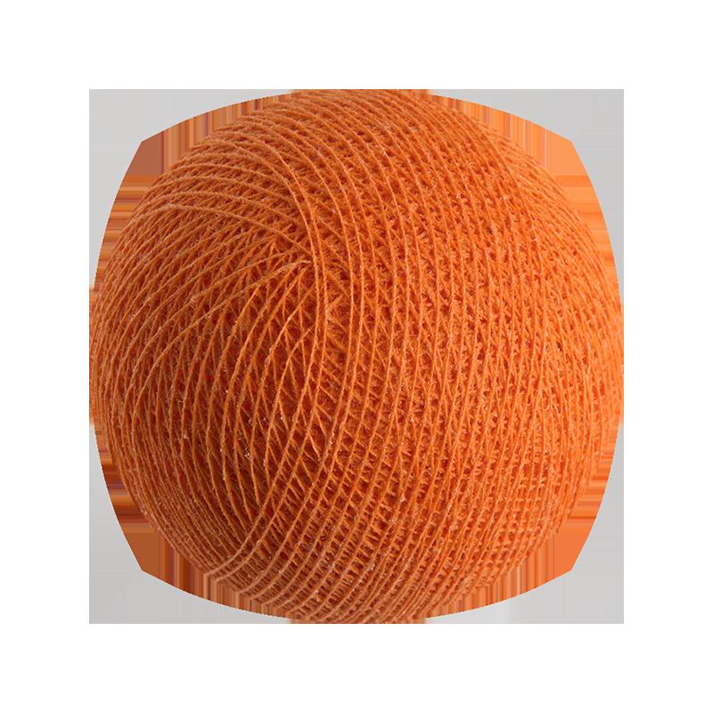 boule tissée pour guirlande lumineuse l'Original - orange - Boules Tissées l'Original - La Case de Cousin Paul