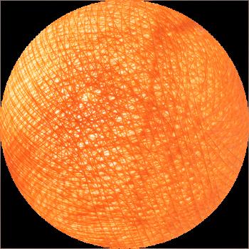 boule tissée pour guirlande lumineuse l'Original - orange clair - Boules Tissées l'Original - La Case de Cousin Paul