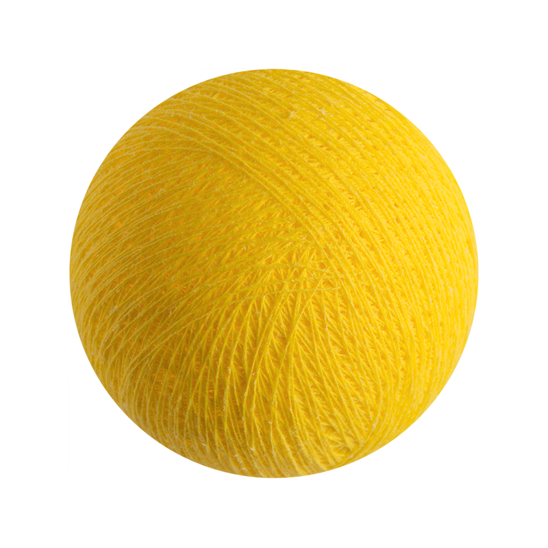 boule tissée pour guirlande lumineuse l\'Original - jaune