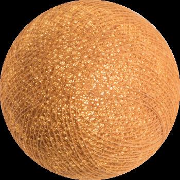 boule tissée pour guirlande lumineuse l'Original - caramel - Boules Tissées l'Original - La Case de Cousin Paul