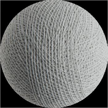boule tissée pour guirlande lumineuse l'Original - gris perle - Boules Tissées l'Original - La Case de Cousin Paul