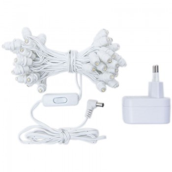 guirnalda Premium de 50 LED con cable blanco CE - Accesorios premium - La Case de Cousin Paul