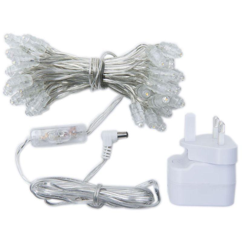 Premium string lights with 50 LED bulbs with UK transparent cable - Premium accessories - La Case de Cousin Paul