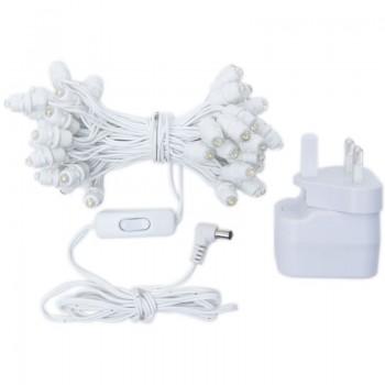 Guirlande Premium - 50 LED câble blanc UK - Accessoires Premium - La Case de Cousin Paul