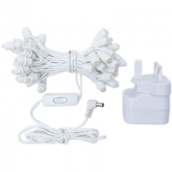 guirnalda Premium de 50 LED con cable blanco UK - Accesorios premium - La Case de Cousin Paul