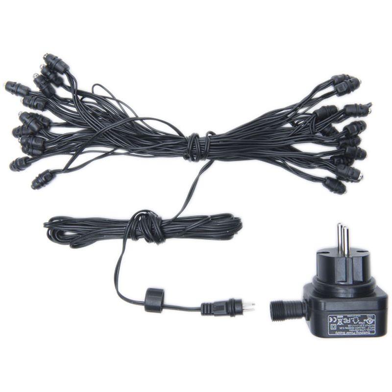 Guirlande Outdoor - 24 LED câble noir CE - Accessoires La Guinguette - La Case de Cousin Paul