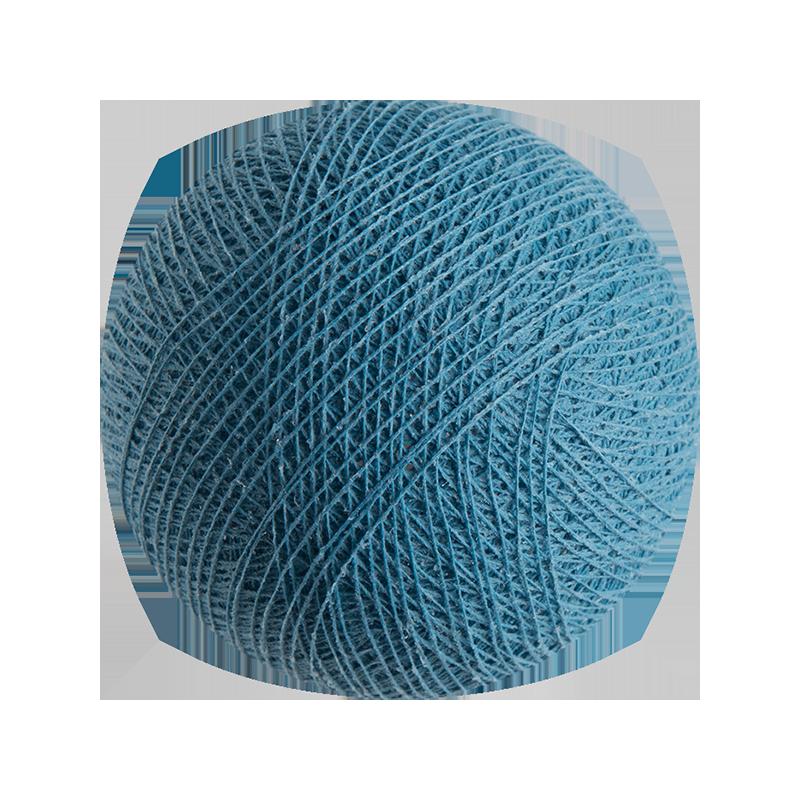 boule tissée pour guirlande lumineuse l'Original - bleu poudré - Boules Tissées l'Original - La Case de Cousin Paul