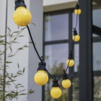 coffret guirlande LED guinguette uni citron