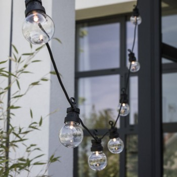 coffret guirlande LED guinguette transparent, gros plan