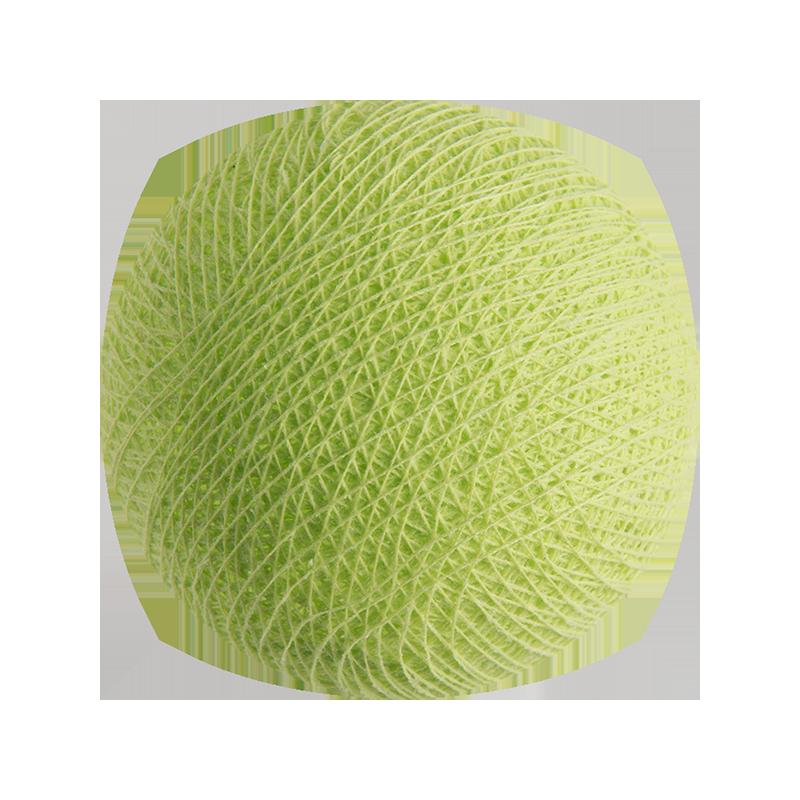 boule tissée pour guirlande lumineuse l'Original - vert amande - Boules Tissées l'Original - La Case de Cousin Paul