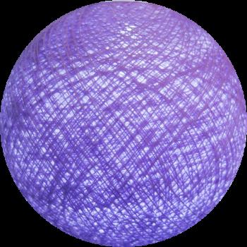 boule tissée pour guirlande lumineuse l'Original - parme clair - Boules Tissées l'Original - La Case de Cousin Paul