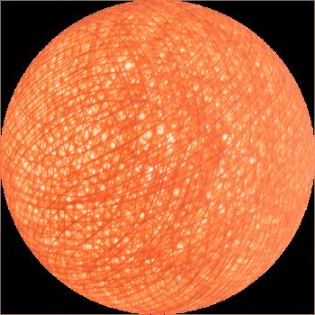 boule tissée pour guirlande lumineuse l'Original - rose saumon - Boules Tissées l'Original - La Case de Cousin Paul