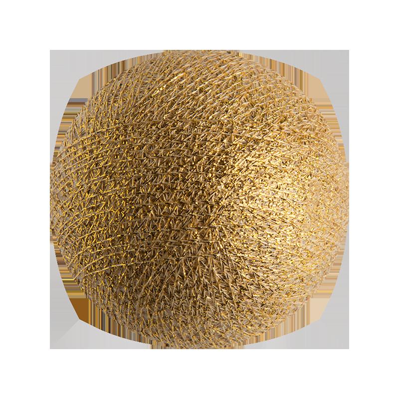 boule tissée pour guirlande lumineuse l'Original - or - Boules Tissées l'Original - La Case de Cousin Paul