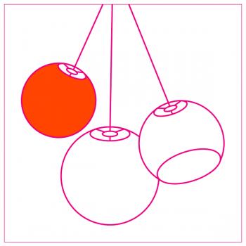 designer koepellampen (driedubbel ophangsysteem) - Designer - La Case de Cousin Paul