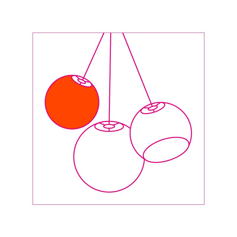 designer ballampen (enkelvoudig ophangsysteem) - Designer - La Case de Cousin Paul