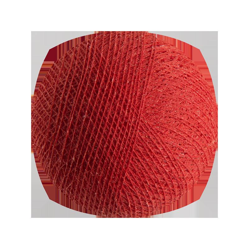 Boule tissée pour guirlande Outdoor rouge - Boules Tissées Outdoor - La Case de Cousin Paul