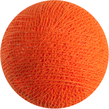 Boule tissée pour guirlande Outdoor orange flash - Boules Tissées Outdoor - La Case de Cousin Paul