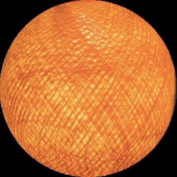 Boule tissée pour guirlande Outdoor orange clair - Boules Tissées Outdoor - La Case de Cousin Paul
