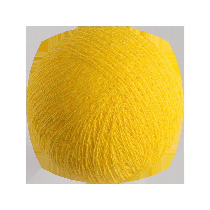 Boule tissée pour guirlande Outdoor jaune - Boules Tissées Outdoor - La Case de Cousin Paul