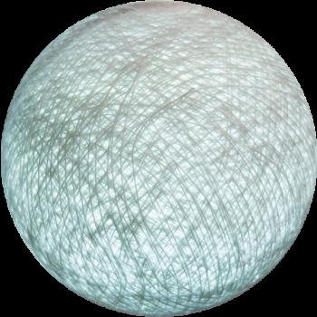 Boule tissée pour guirlande Outdoor gris perle - Boules Tissées Outdoor - La Case de Cousin Paul