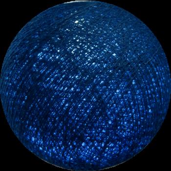 Boule tissée pour guirlande Outdoor bleu roi - Boules Tissées Outdoor - La Case de Cousin Paul