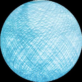 Boule tissée pour guirlande Outdoor bleu ciel - Boules Tissées Outdoor - La Case de Cousin Paul