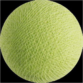 Boule tissée pour guirlande Outdoor vert amande - Boules Tissées Outdoor - La Case de Cousin Paul